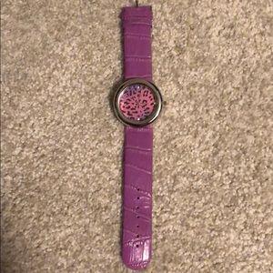 Purple Leopard Watch